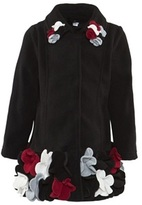 Kate Mack Biscotti Black Felt Coat