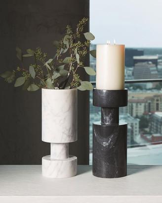 Global Views Luc White Marble Vase