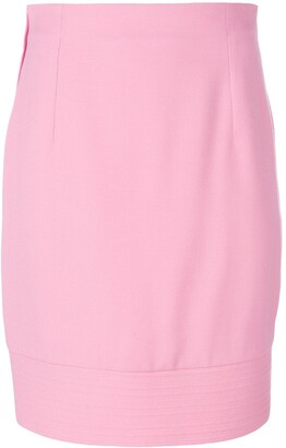 Versace Pre Owned Fitted Midi Skirt