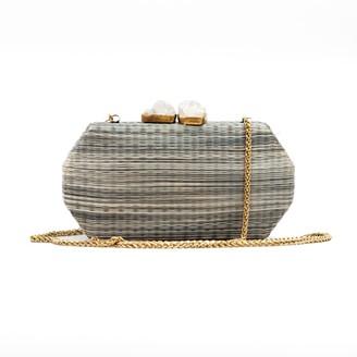 Likhâ Handloomed Clutch Sarsuela Shibori Grey