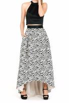 ABS by Allen Schwartz Zebra High-Low Skirt