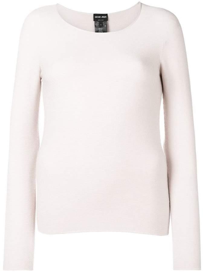 Giorgio Armani long-sleeve fitted top