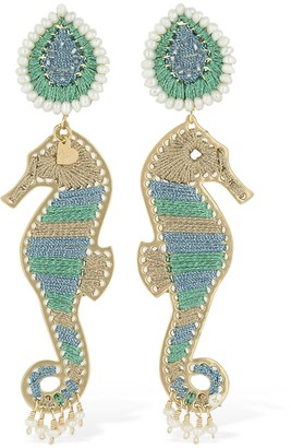 Mercedes Salazar Seahorse Clip-on Earrings