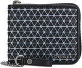 Diesel chain pattern zipped wallet