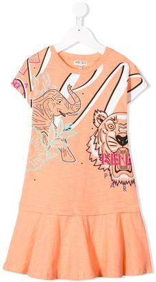 Kenzo Kids Signature Print Dress