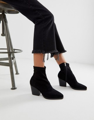 Public Desire Charlie black sock western boots