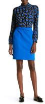 Anne Klein Solid Tie Skirt