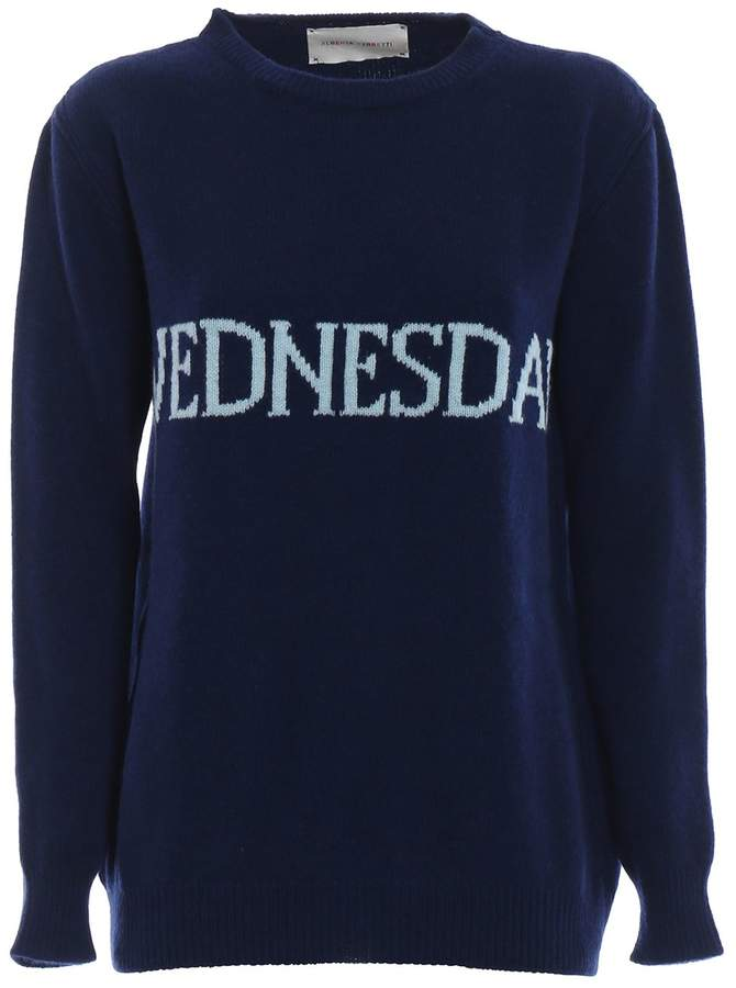 Alberta Ferretti Rainbow Week Wednesday Cashmere Blend Crew Neck