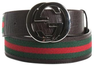Gucci Web Canvas Belt, Size 39.5In