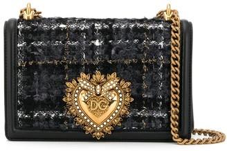 Dolce & Gabbana tweed Devotion cross body bag