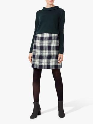 Hobbs Elea Wool Mini Skirt, Ivory/Green