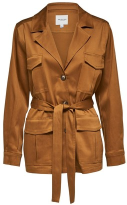 Selected Bronze Brown Milla Short Trench - 34