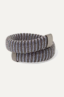 Carolina Bucci Caro Silver-plated, Sterling Silver And Lurex Bracelet - Metallic