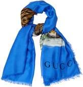 Gucci Tiger-print scarf
