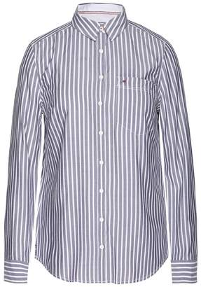 Tommy Jeans Striped Long-Sleeved Blouse