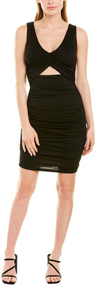 Susana Monaco V-Neck Gathered Cutout Sheath Dress