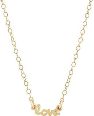 Elliot Young Fine Jewelry 14K Gold Use Your Words Cursive Love Necklace