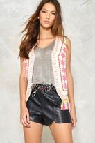 Nasty Gal I've Got the Flower Embroidered Vest