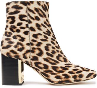 Tory Burch Gigi 70 Leopard-print Calf Hair Ankle Boots