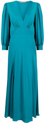 Alberta Ferretti Empire-Waist Long Sleeved Dress