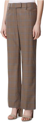 Tahari ASL Petite Plaid Wide-Leg Pants