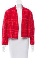 Bottega Veneta Embroidered Open-Front Jacket