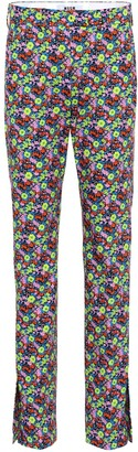 MSGM Floral-printed cotton trousers