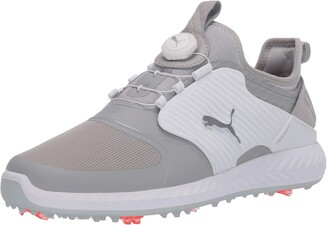 Puma Men's Ignite Pwradapt Caged Disc Golf Shoe White Silver-Peacoat Numeric_10_Point_5