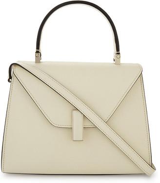 Valextra Ladies Cream Grained Modern Iside Mini Grained-Leather Cross-Body Bag