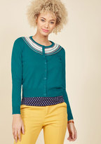 ModCloth A Touch of Terrific Cardigan in Teal in 14 (UK)