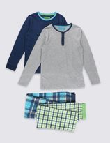 Marks and Spencer 2 Pack Checked Pyjamas (1-16 Years)