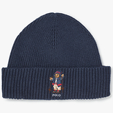 Polo Ralph Lauren Apres Ski Bear Merino Beanie, One Size, Navy