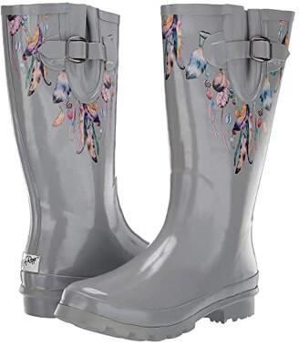 M&F Western Briana (Grey) Women's Rain Boots