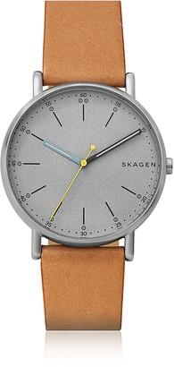 Skagen Signatur Tan Leather Watch
