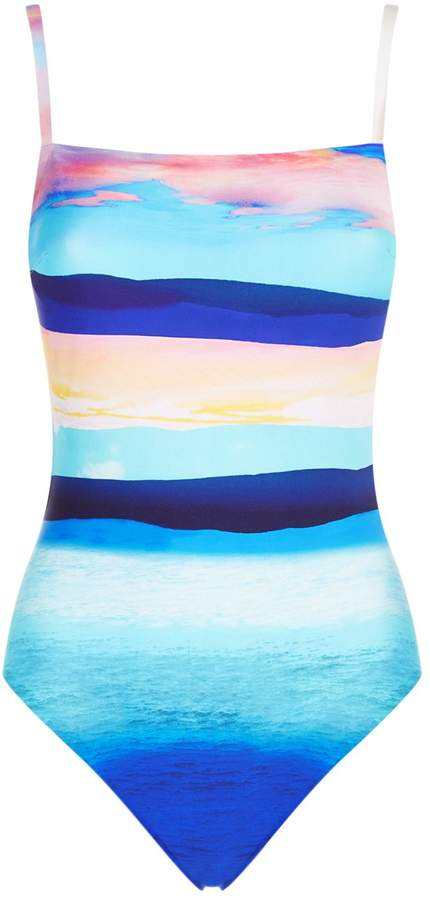 Gottex Striped Wired Swimsuit