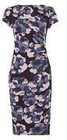 Dorothy Perkins Womens *Roman Originals Navy Floral Print Dress- Navy