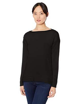 Three Dots Women's QQ2818 Brushed Sweater Boxy L/S