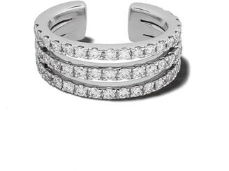 White Bird 18kt white gold diamond Josephine earcuff