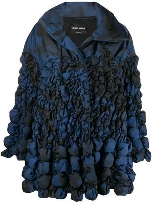 Giorgio Armani Printed Shirred Shell Coat