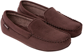 Totes Suedette Mocassin Slippers, Brown