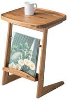 AZUMAYA Coffee Side End Table Tray Edge Table Top Natural Acacia Wood NET-724 Home and Living