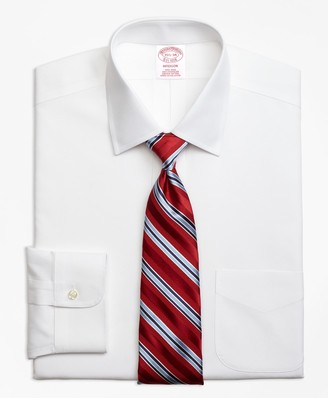 Brooks Brothers Stretch Madison Classic-Fit Dress Shirt, Non-Iron Pinpoint Spread Collar