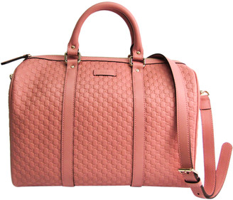 Gucci Pink Micro Guccissima Leather Boston Bag