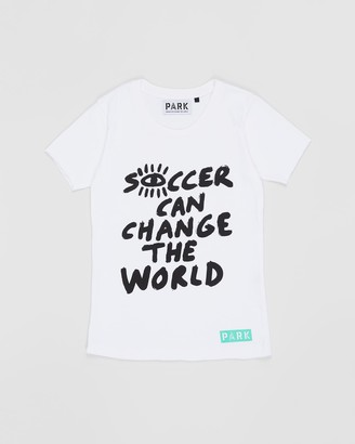 Park Youth Soccer Can Change The World Tee - Teens