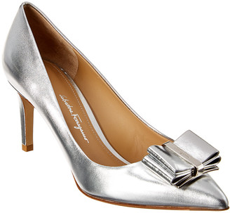Salvatore Ferragamo Zeri Metallic Leather Pump
