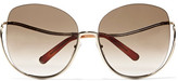 Chloé Milla Square-frame Gold-tone Sunglasses - one size