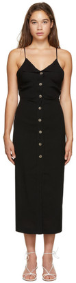 Nanushka Black Paz Button Down Dress