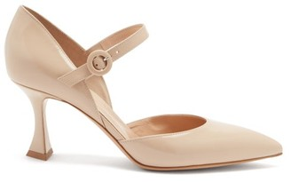Gianvito Rossi Mary Jane Leather Pumps - Beige