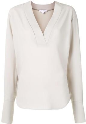 Beaufille V-neck long-sleeved blouse