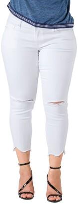 Standards & Practices Tessa Chewed Hem Stretch Skinny Jeans
